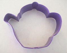 TEAPOT Cookie CutterPurple Enamel Coated MetalTea by TheRustyHorse, $2.25