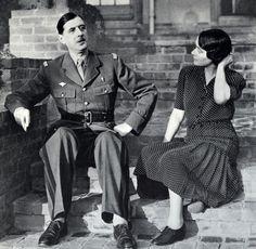 yvonne de gaulle charles robe à pois en 1942