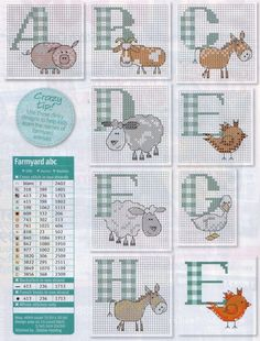 Farming Animals Alphabet 1 Gallery.ru / Фото #33 - Cross Stitch Crazy 141…