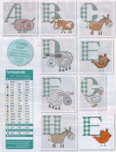 Farming Animals Alphabet 1 Gallery.ru / Фото #33 - Cross Stitch Crazy 141…
