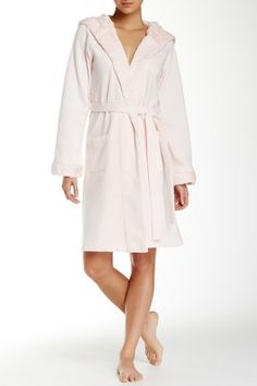 Plush Lined Hooded Robe