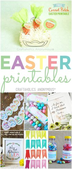 Over 40 of my favorite free Easter printables perfect for adding a colorful touch of spring to your Easter decor this year! Easter Party, Easter Gift, Easter Decor, Free Printable Banner, Free Printables, Happy Easter Banner, Lacing Cards, Different Holidays, Hoppy Easter