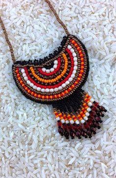Klárik Tünde Modern Gyöngyékszerek-------------Tünde Klárik Fashion Jewelry: medál/pendant