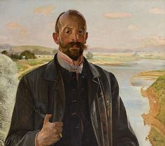 Jacek Malczewski - Self-portrait Poland, Mythology, Folk, Painting, Selfies, Portraits, Artists, Popular, Painting Art