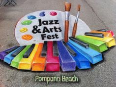 Jazz & Arts Fest 2013 - 3D interactive chalk art by www.AmazingStreetPainting.com