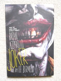 #Joker hardcover new hardback by #brian azzarello and lee bermejo dc #comics batm,  View more on the LINK: 	http://www.zeppy.io/product/gb/2/262846545923/