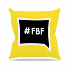 "East Urban Home Flash Back Friday Outdoor Throw Pillow Size: 16"" H x 16"" W x 5"" D"