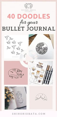Here is a list of 40 simple things to draw for your bullet journal. The perfect way to liven up your bullet journal is with art and little doodles. #bulletjournal #bulletjournal #bulletjournaltemplate #bulletjournal #bulletjournal #bulletjournaltemplate Creating A Bullet Journal, Bullet Journal 2019, Bullet Journal Spread, Bullet Journal Inspiration, Bullet Journals, Journal Ideas, Notebook Doodles, Doodle Art Journals, Bullet Journal Layout Templates