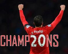 On this day, April Manchester United won the Premier League Championship. Robin Van Persie the main figure. Van Persie, Soccer Pictures, Sports Fanatics, Most Popular Sports, Manchester United Football, United We Stand, First Love, My Love, Man United