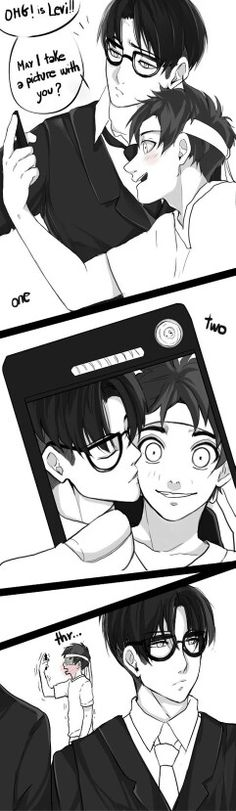I found this really cute and sweet! X3 Eren x Levi (obviously ship it )>> I would totally troll my fans like this if I was famous.