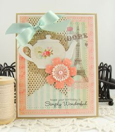 """MFT card made for CR84FN using """"Always Time for Tea"""" stamp set and dies."""
