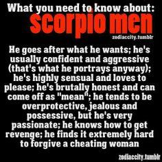 Scorpio man dating habits of men