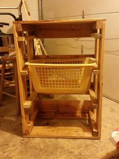 Laundry basket holder by NaturalCreationsbySR on Etsy