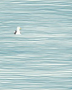 Simple seagul art - love it!