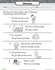 Making Inferences Learning Inference 2nd Grade Worksheets