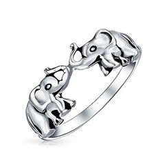 Bling Jewelry Antiqued Sterling Silver Lucky Double Elephants Animal Ring >>> Find out more about the great product at the image link.Note:It is affiliate link to Amazon.