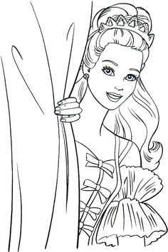 Barbie coloring pages to print for free; mermaid, princess, dolls and other