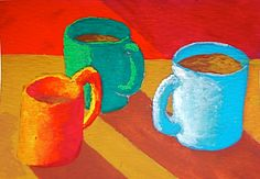 The Morning Cup of Coffee 146 ARTIST TRADING CARDS by MikeKrausArt
