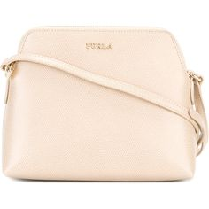 Furla Boheme cross-body bag ($183) ❤ liked on Polyvore featuring bags, handbags, shoulder bags, nude, pink handbags, crossbody purses, pink cross body purse, bohemian handbags and nude purses