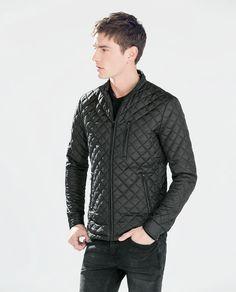 Discover the new ZARA collection online. Men's Leather Jacket, Bomber Jacket Men, Blazer Jacket, Streetwear Mode, Streetwear Fashion, Mens Outdoor Jackets, Cool Outfits, Casual Outfits, Summer Jacket