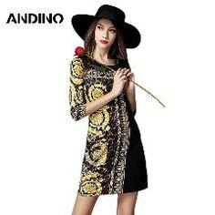 [ 40% OFF ] Fashion Spring Style Cotton Linen Vintage Print Plus Dresses Women Casual Loose Lady Dress Party Vestidos Femininos 2016 Dresses