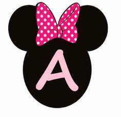Abc Rosa en Cabezas de Minnie. Minnie Heads Pink Abc. Theme Mickey, Minnie Mouse Birthday Decorations, Mickey Mouse Parties, Mickey Mouse Birthday, Minnie Baby, Minnie Mouse Pink, Decoration Minnie, Minnie Mouse Images, Diy Birthday Banner