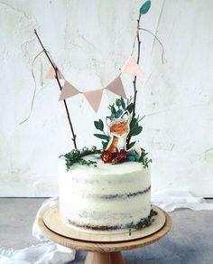Cake by imbir_gvozdika #Russia #children #fox #nakedcake