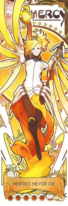Overwatch - Beautiful Mercy Banner