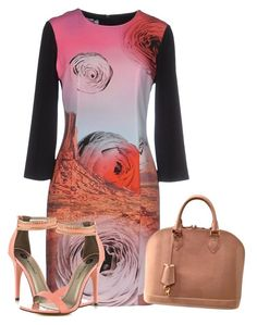 """""""PEACHSWIRL!"""" by tailichuns ❤ liked on Polyvore featuring Moschino Cheap & Chic, Michael Antonio and Louis Vuitton"""