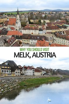 During a river cruise through Austria's famed Wachau Valley, Melk is a beautiful city to stop in as it boasts a charming historic centre and an incredible abbey run by monks!