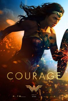 Title:Wonder Woman Stars: Gal Gadot, Chris Pine, Robin Wright Rating: (for sequences of violence and action, and som. Wonder Woman 2017 Poster, Logo Wonder Woman, Wonder Woman Film, Gal Gadot Wonder Woman, Wonder Women, Marvel Dc, Wonder Woman Birthday, Birthday Woman, Chris Pine