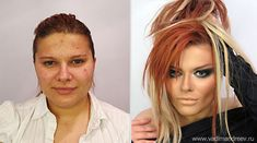The Magic of Makeup...whoa!  Stunning Before and After Makeup Photos by Vadim Andreev