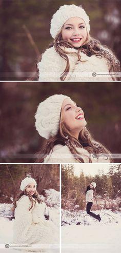 Snow Fairytale, Senior Photo Session Part 2 || Boutique Senior Photographer, Seattle » Katerina Fortygin Photography and Design