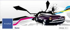 Free Facebook Timeline Cover Photos - Quality-Cover.com: Purple Abstract Car
