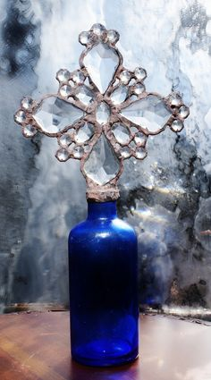 Cross Bottle ~ I had one made for me on a green bottle..... so talented