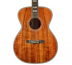 The Guild Custom Shop's first creation is the 60th Anniversary model—a limited-edition run of 60 finely appointed acoustic guitars designed in celebration of Guild's 2013 diamond anniversary. It has a beautiful 5A koa top, back and sides; red spruce bracing; an elegant mother-of-pearl rosette; abalone top purfling; rosewood body and neck binding; and a genuine diamond headstock inlay. Its rich and articulate tone is as stunning as its appearance.