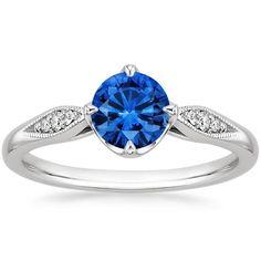 18K White Gold Sapphire Jolie Diamond Ring from Brilliant Earth