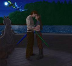 Eragon and Arya Farewell by thuvia on @DeviantArt