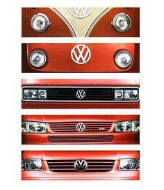 Evolution of an Emblem - Logo - Badge on #VW Bus