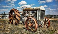 Image result for rustic  tractors pictures