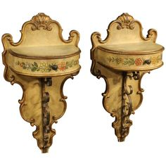 20th Century Pair of Spanish Bedside Tables | From a unique collection of antique and modern night stands at https://www.1stdibs.com/furniture/tables/night-stands/
