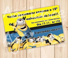 Convite Virtual Minions