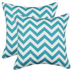 Set of two chevron cotton pillows.   Product: Set of 2 pillowsConstruction Material: 100% Cotton cover and hypo-allerg...