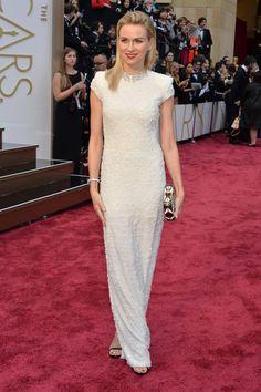 Naomi Watts in Calvin Klein & Bulgari Oscar Dresses 2014 Style - Academy Awards 2014 Red Carpet Fashion - ELLE