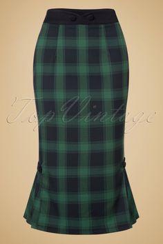 This 40s Agnes Tartan Pencil Skirt
