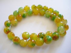 Perles de jade a facettes forme ronde10 mm*** chapelet de 38 perles *** : Perles pierres Fines, Minérales par mercerie-jewelry