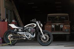 A Harley street tracker from Tin Shack Restoration, built to tear up Vermont mountain roads.