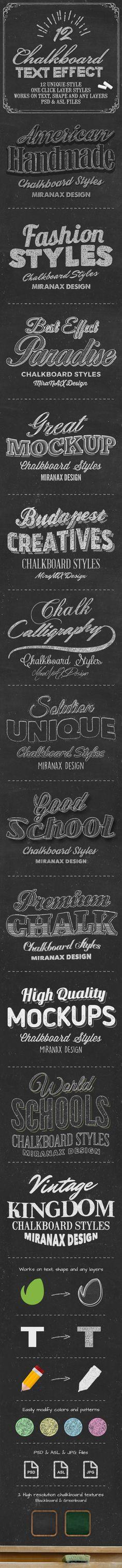 Chalkboard Styles #photoshop Download here: http://graphicriver.net/item/chalkboard-styles/10785351?ref=ksioks