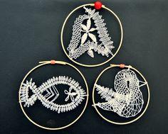 paličkované vánoční ozdoby/ bobbin lace christmas ornaments