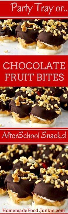 Chocolate Fruit Bites By HomemadeFoodJunkie.com